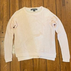 French Connection | Light Pink Waffle Sweater
